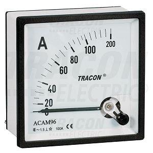 AMPERMETAR ANALOGNI 0-50A AC direktni ugradni 96×96 ACAM96-50