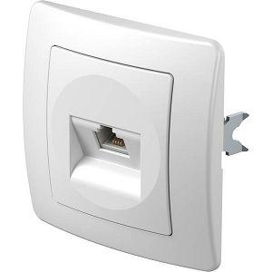 EKONOMIK PRIKLJUČNICA 1×RJ11 telefonska bijela 6/4 KE36PW 17703