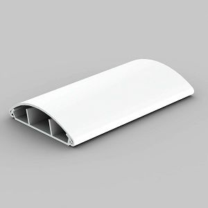 KANAL LO 75 HD podni obli 75×18 bijeli 3-dijelni