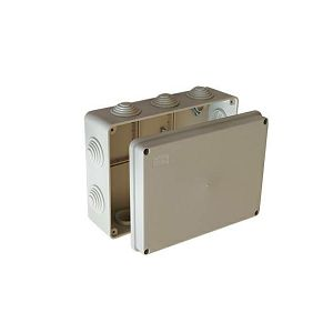 KUTIJA 190×140×70 s uvodnicama (10kom)  SIVA nž IP55 PN190