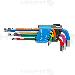 SET IMBUSA SA KUGLOM 1,5-10mm 9/1 u boji HT1W806