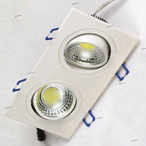 SVJETILJKA HL6702L 2×5W LED cob IP20 2700K 230V ugradna kvadrat bijela