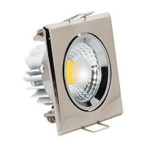SVJETILJKA HL678L 3W LED cob IP20 2700K 230V ugradna kvadrat crom matt
